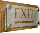 exit signboard